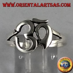Silver ring with sacred Hindu symbol