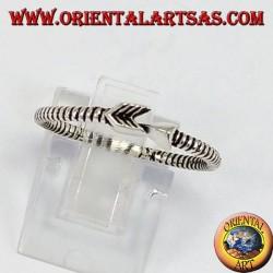 Flecha de plata anillo