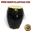 Drum, Pakhawaj in medium dark mahogany wood
