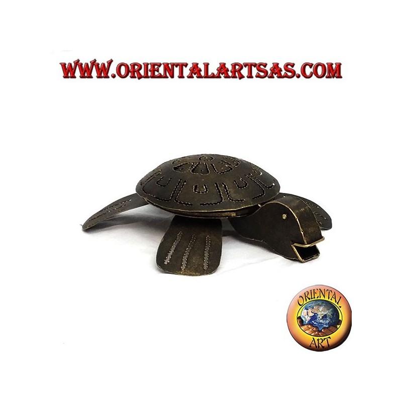 Tartaruga richiudibile in ferro posacenere