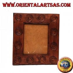 portafoto in legno intarsiate a spirali grande