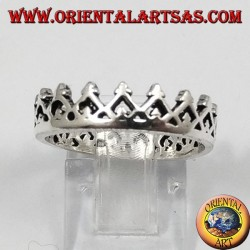 Silver ring, small crown