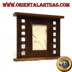 Antique teak photo frame with base