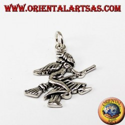 Silver Pendant Witch (befana)