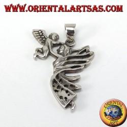 Pendiente de hadas de plata con el ángel