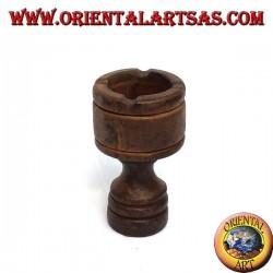 Chalky teak wood ashtray