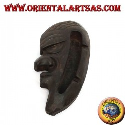Teak wood mask ashtray