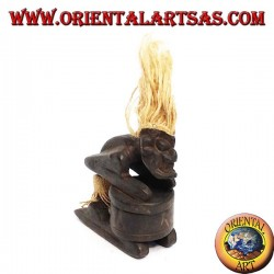 Tribal wooden statuette with reclosable box