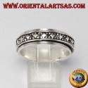 Rotating silver ring (Antistress) rombi decoration