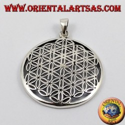 Silver Pendant, Flower of Life