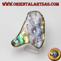 Anello d'argento con madreperla paua