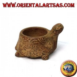 Candle holder in turtle terracotta