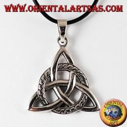 Ciondolo d'argento nodo celtico di tyrone grande
