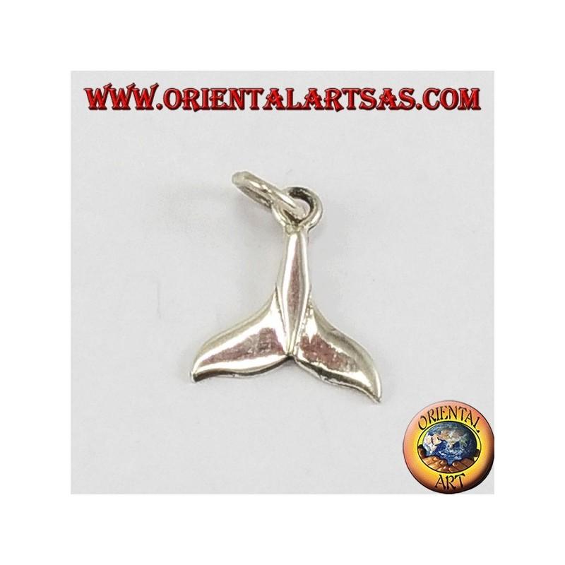 Ciondolo d'argento piccolo, coda di balena