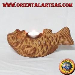 Candlestick poisson dans Terre cuite