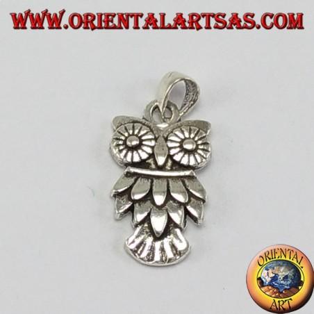 Ciondolo d'argento gufo