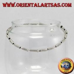 Cavigliere in argento con spirali ed 1 campanello