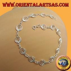 Fußkettchen in Silber, mit kleinen Kreisen
