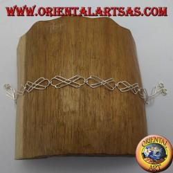 Cavigliera in argento, con nodo celtico