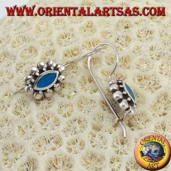 Silver earrings with turquoise pasta with shutters