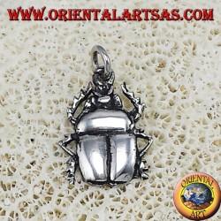 Silver beetle pendant
