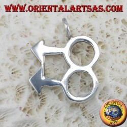 Ciondolo d'argento, simbolo gay uomo uomo