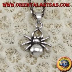 Silver pendant, small spider