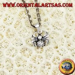 Silver pendant, spider tarantula