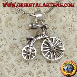 Silber-Anhänger, Fahrrad mit beweglichen Rädern