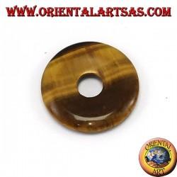 Pendentif en oeil de tigre 30mm donut. Ø