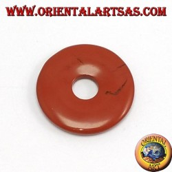 Pendant red jasper donut 30mm. O