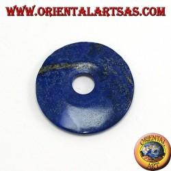 Lapis-lazuli donut pendant 40mm. Ø