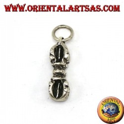 Silver pendant, Vajra is also called in Tibetan Dorje