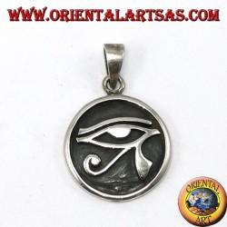 Silver pendant, carved Horus eye