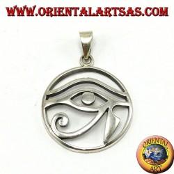 Silber Anhänger, Auge von Horus perforierte im Kreis