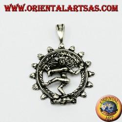 Shiva Nataraja Silver Pendant