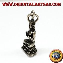 Silber Anhänger Buddha in Dharmachakra Mudra Position