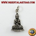 Buddha silver pendant in the position of dharmachakra mudra