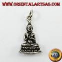 Ciondolo in argento Buddha nella posizione del dharmachakra mudra