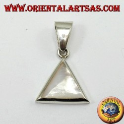 Silver pendant, triangular with mother of pearl