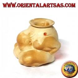 Brucia essenze in ceramica Yogi meditazione benessere di Buddha feng shui zen