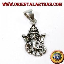 Silber Anhänger, Ganesh Kopf