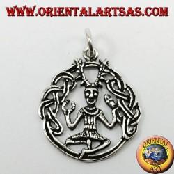 silver pendant Cernunnos