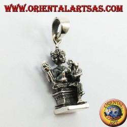 Silver pendant, Brahmā