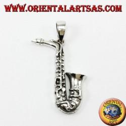Серебряный кулон, саксофон