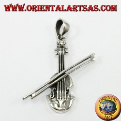 Ciondolo in argento, Violino
