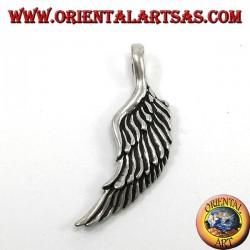 Ciondolo in argento,  Ali d'angelo bifacciale tridimensionale