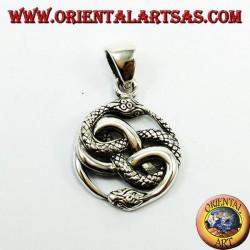 Ciondolo in argento,  Talismano di Auryn Ouroboros