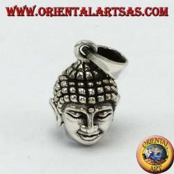 Pendentif argenté tête de Bouddha