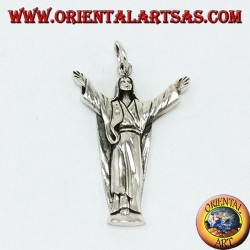 Pendant in silver Christ the Redeemer